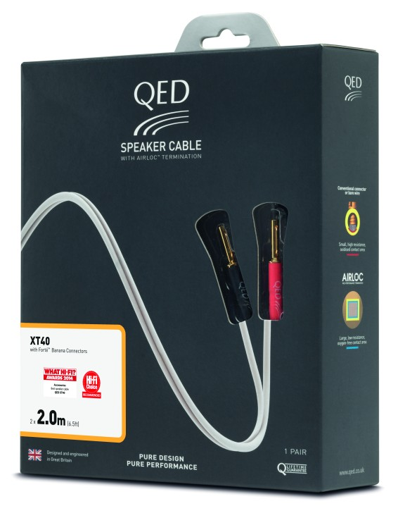 QED Reference XT40 2.0m Cable Packaging